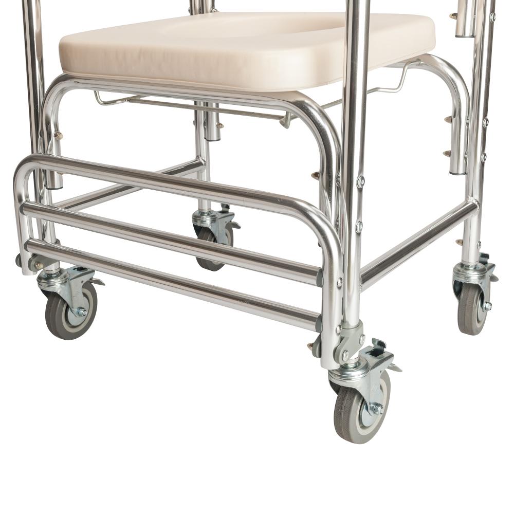 Transport Shower Bedside Commode Wheelchair Medical Toilet