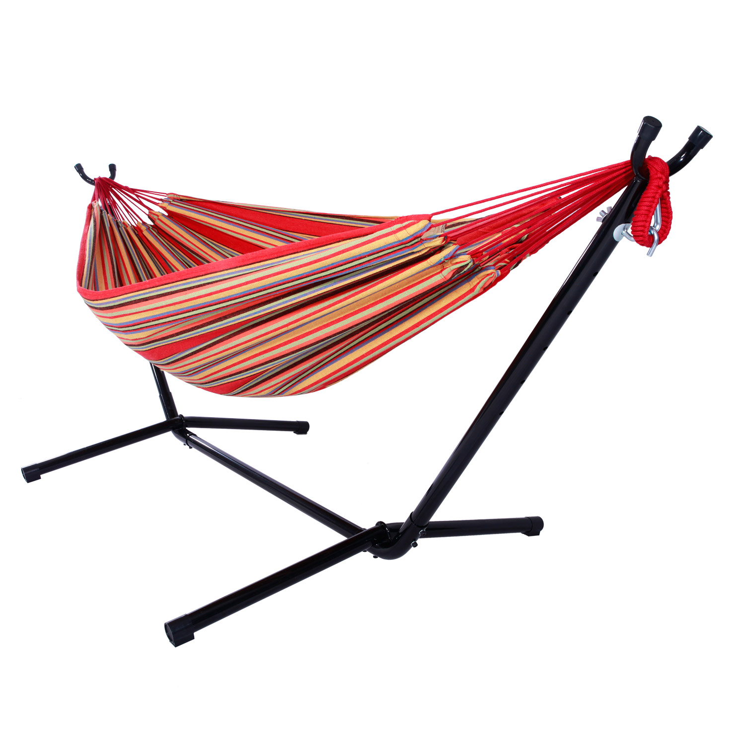 hammock chair stand amazon graco 4 in one high instructions double with space saving steel includes