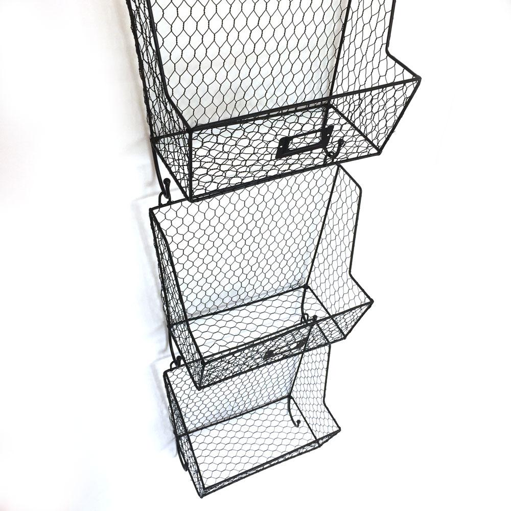 Mail Rack Wall Mount Key Letter Fruit Basket Holder Metal