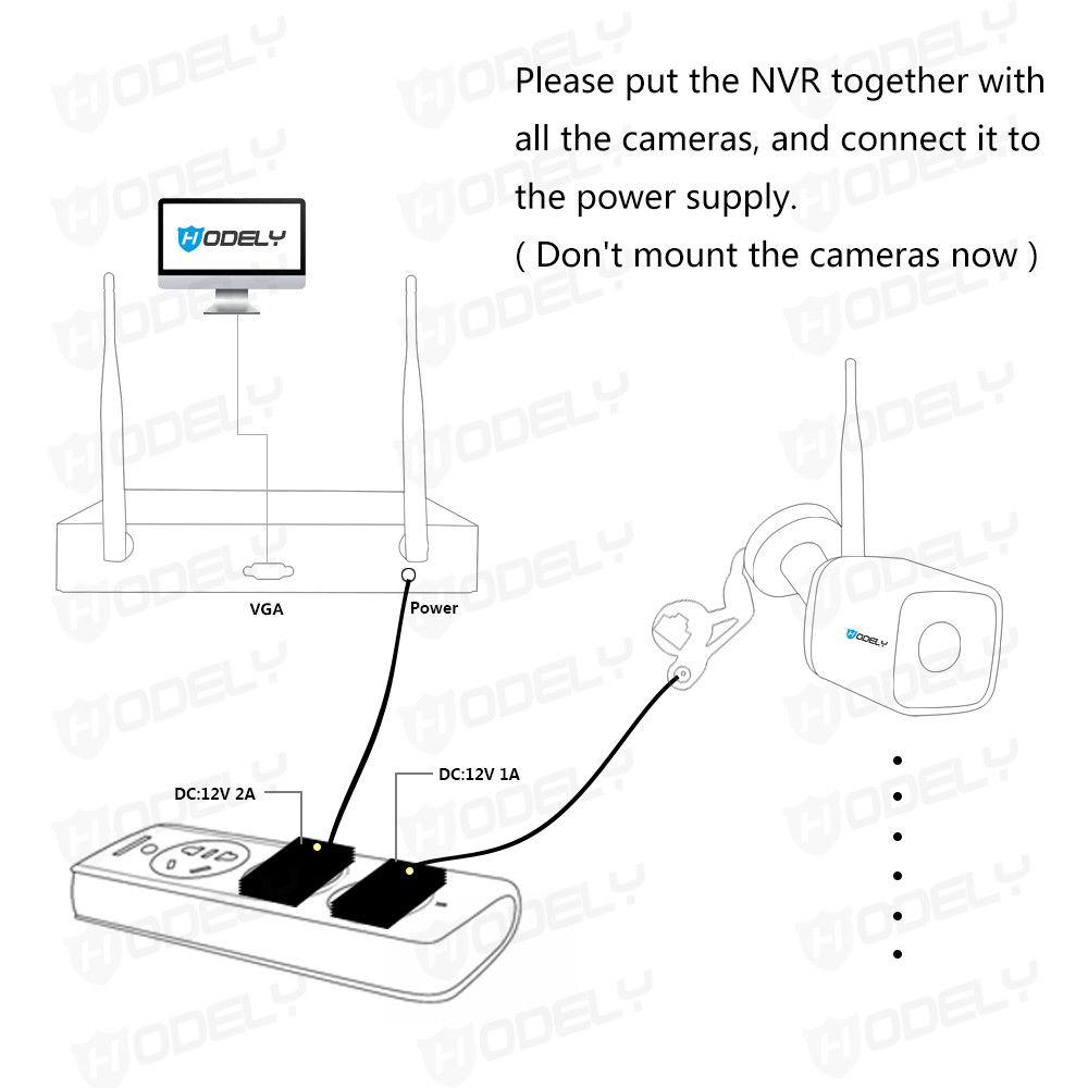 Wireless 4CH 1080P CCTV NVR IR Night Vision WIFI 1MP