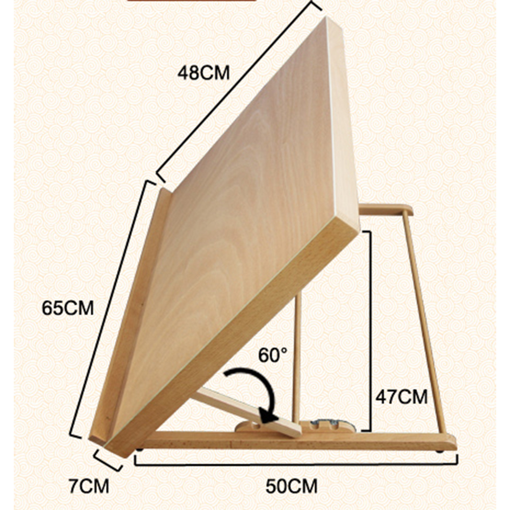 Portable Folding Table Top Desk Easel Adjust Angle Drawing
