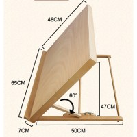 Portable Folding Table Top Desk Easel Adjust Angle Drawing ...