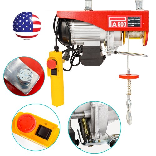 small resolution of 1320lbs mini electric wire cable hoist winch crane lift overhead remote control