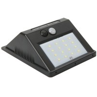 16 LED Solar Power PIR Motion Sensor Wall Light Garden ...