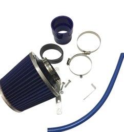 cold air intake kit blue filter for honda 92 95 civic 93 97 del sol 1 5 1 6l [ 1000 x 1000 Pixel ]