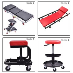 Rolling Stool Chair Pedicure Cover Creeper Seat Mechanic Repair Tools Tray Shop Auto Car Garage