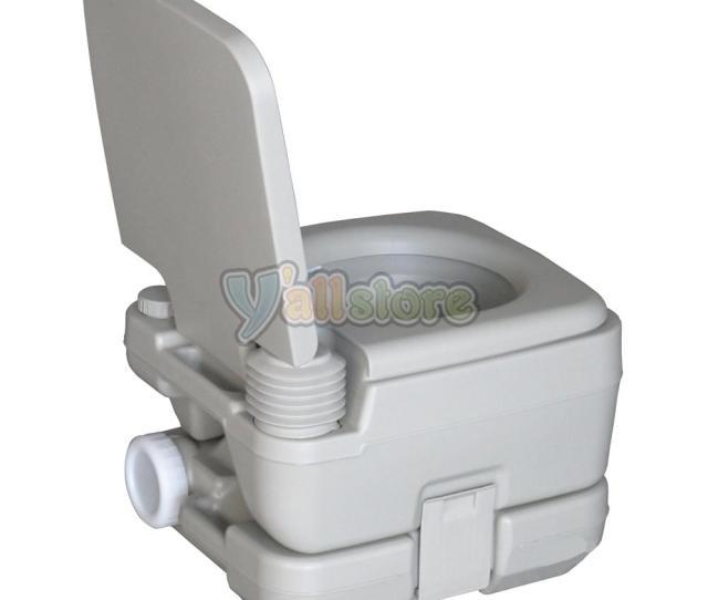 L Holding Tank Portable Camping Toilet Flush Porta Vehicle Boat Toilet Potty