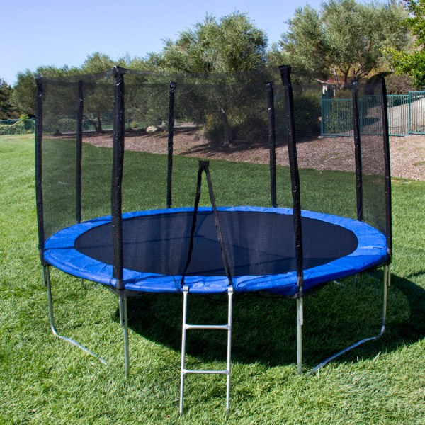 12ft Trampoline Combo Safety Enclosure Bounce Jump Net Withspring Pad&ladder 889081193814