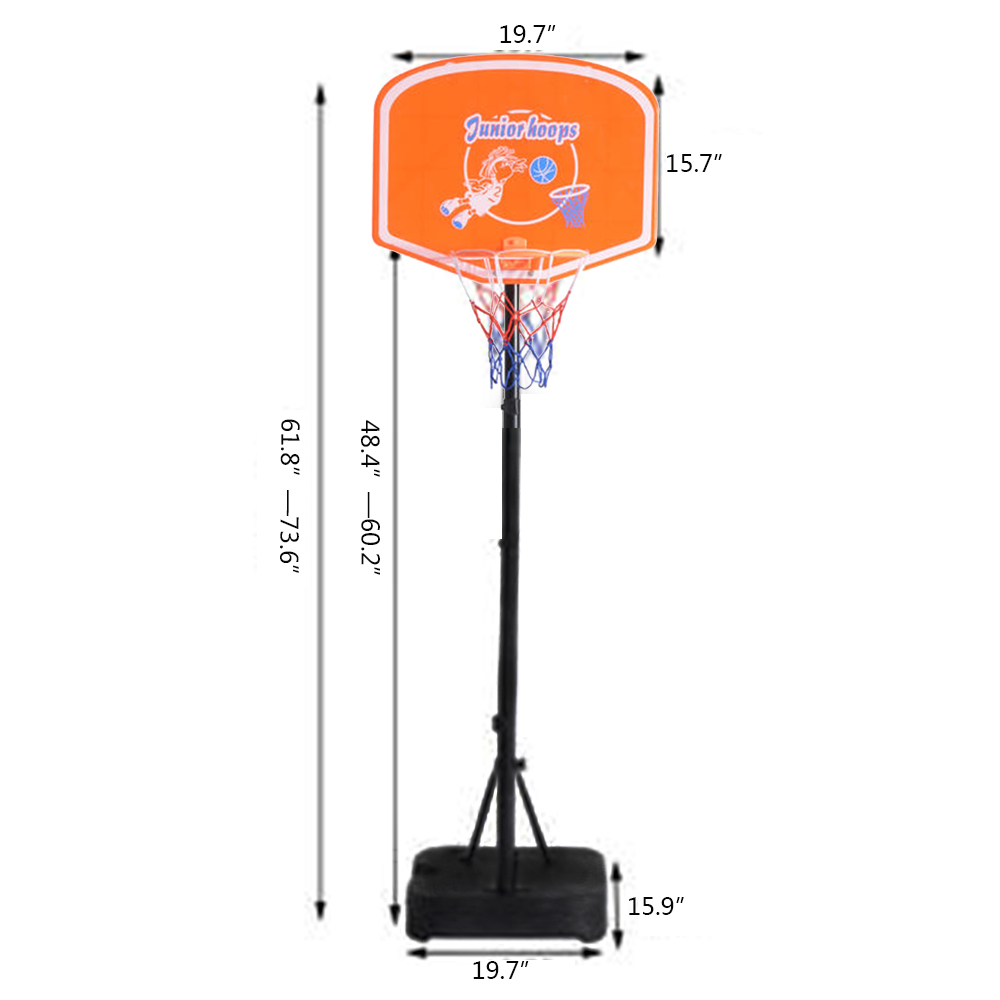 Portable Indooroutdoor Adjustable Basketball Hoop System