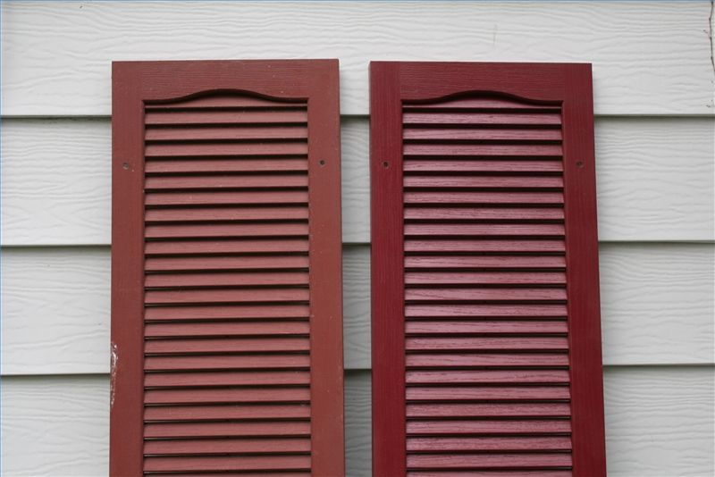 How to bring the color back to vinyl shutters paint