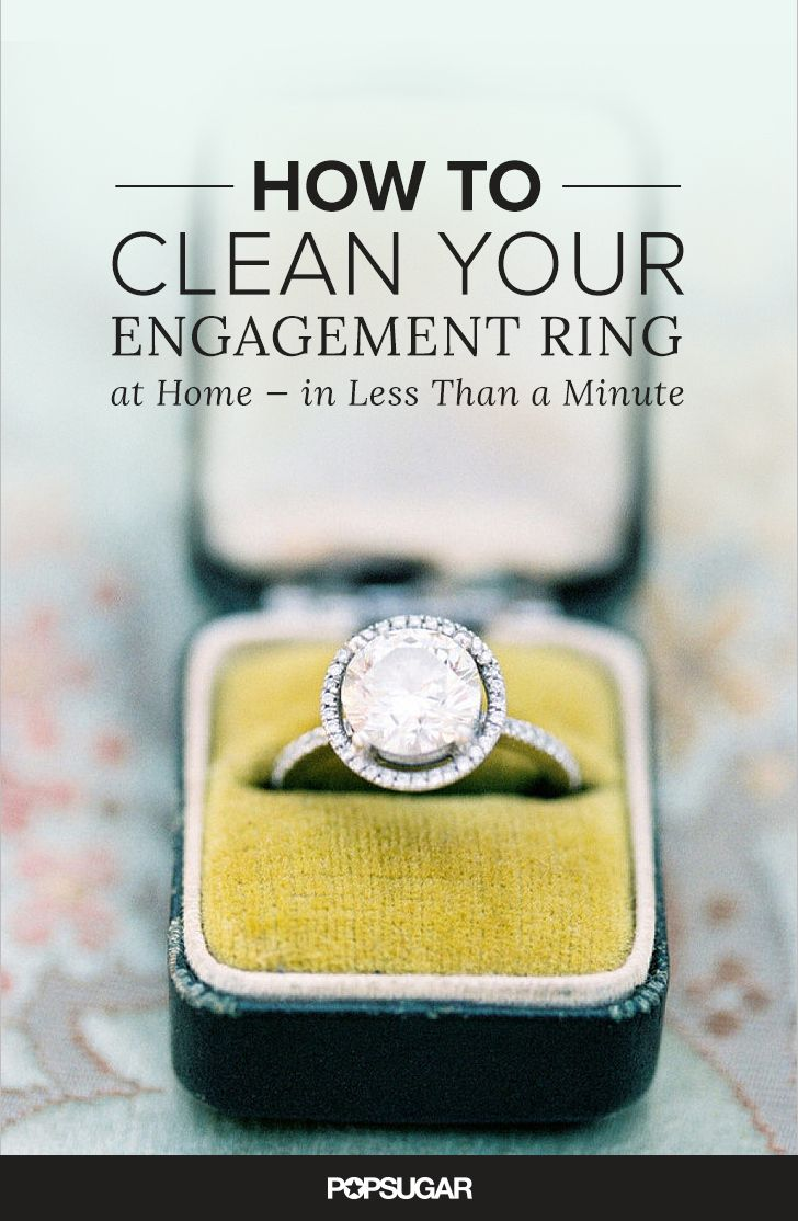 How to clean your engagement ring at home in less than a