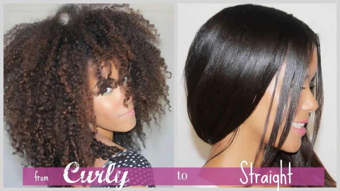 Curly to straight how i straighten my natural curly