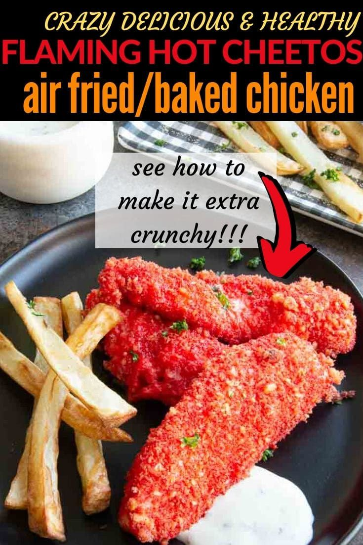 Easy healthy air fryer cheeto chicken recipe made with