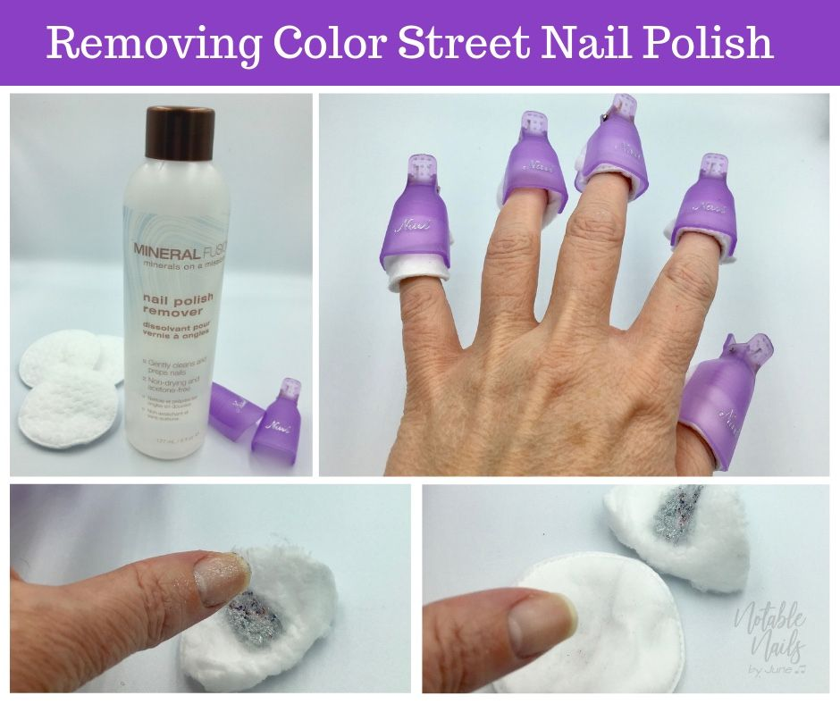 Color street is 100 nail polish so you can remove it with