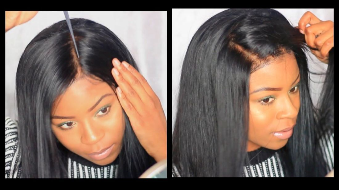 Easy how i apply a lace frontal wig without glue tape or