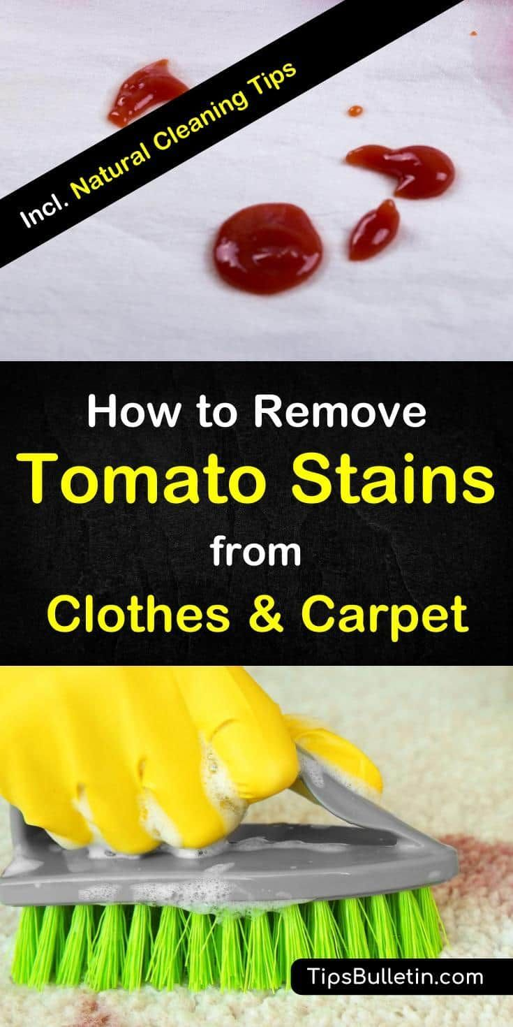 how to get tomato ketchup out of clothes