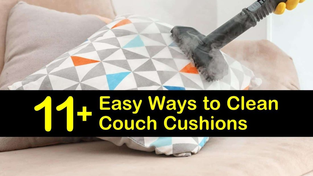how to steam clean a couch cushion