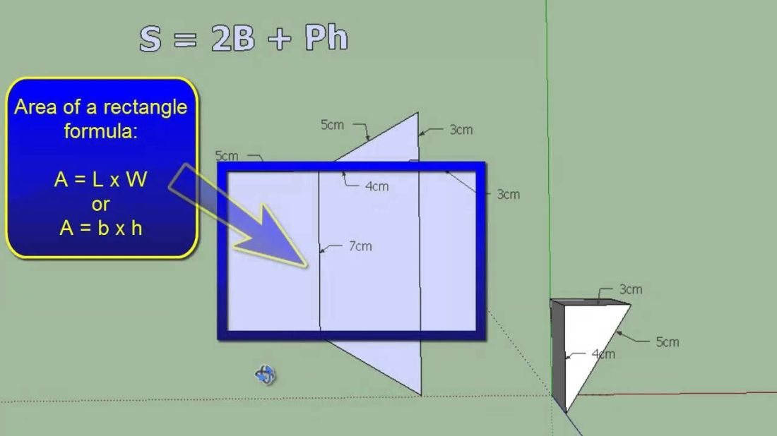 How to find the surface area of a triangular prism made