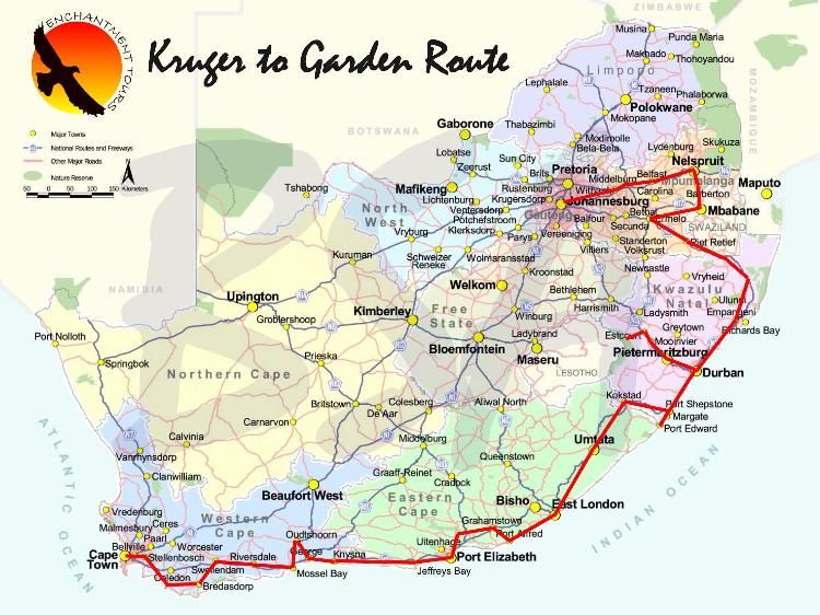 Garden route the plan is to take the garden route from