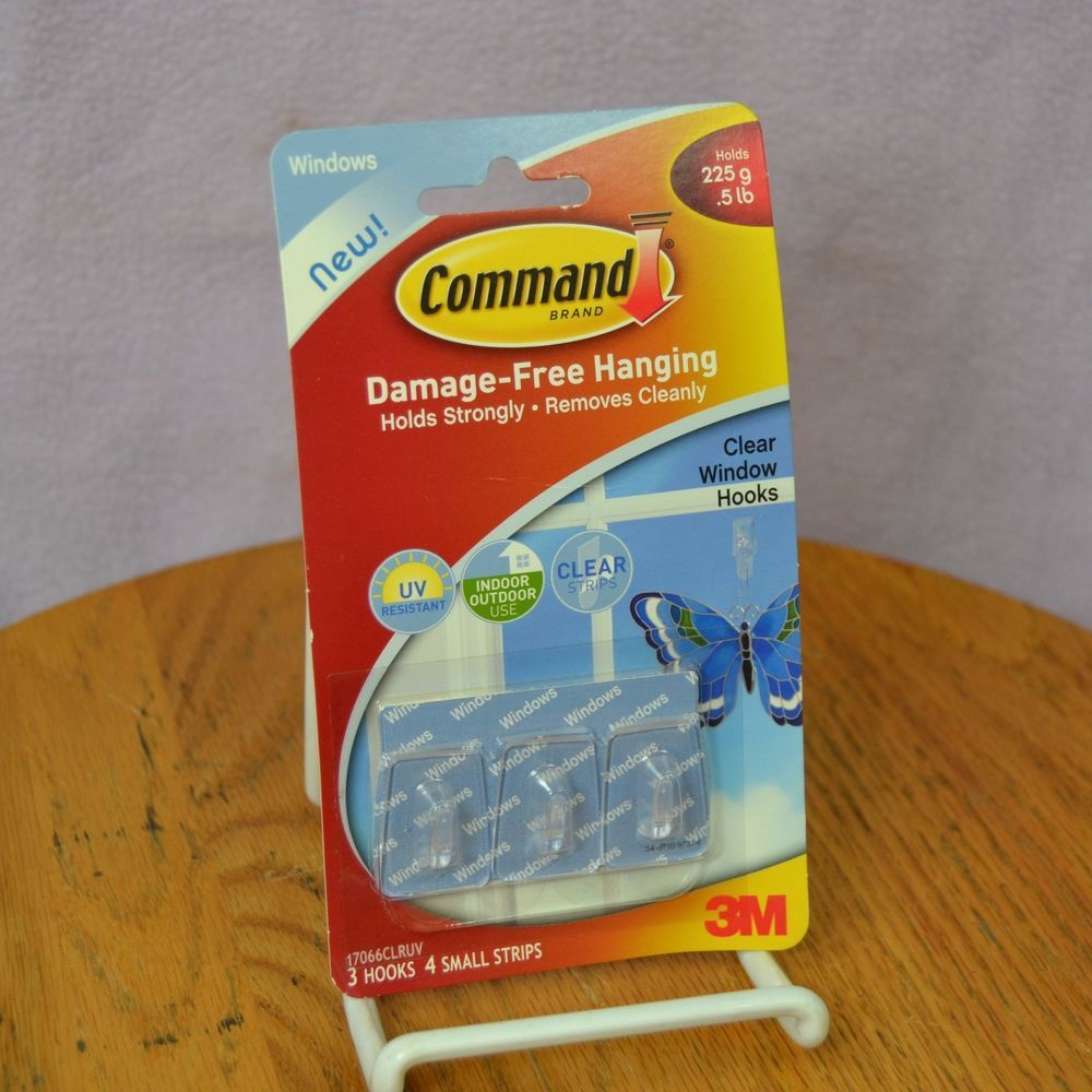 3m command brand clear window hooks pack of 3 indoor