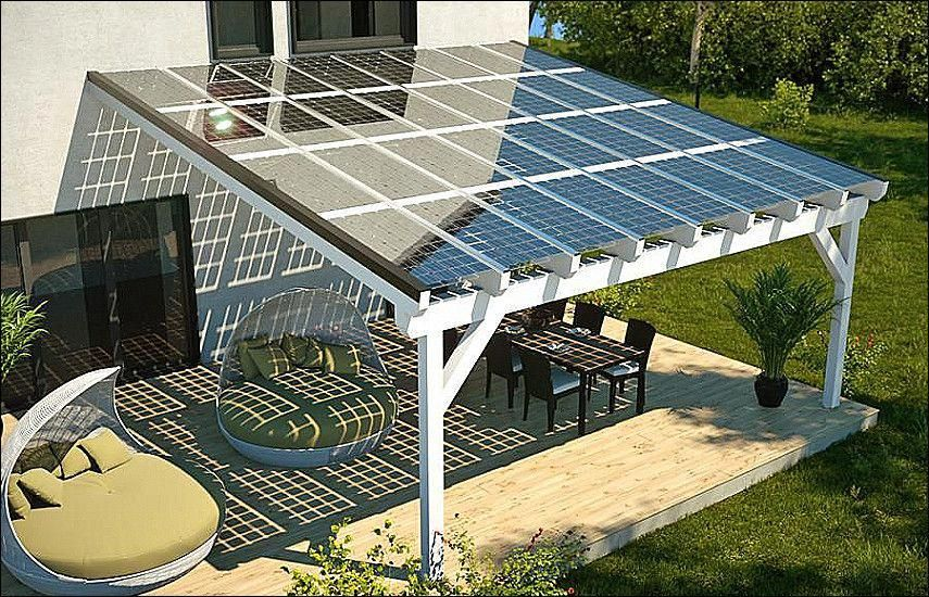 how to build a solar panel patio cover
