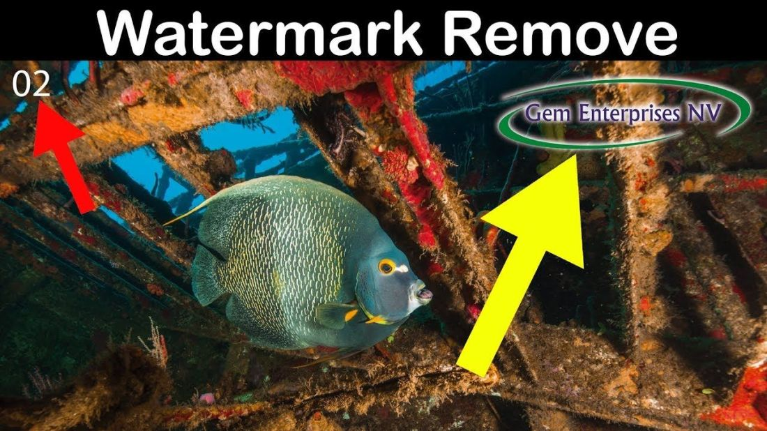 How to remove watermark from photo using cs6