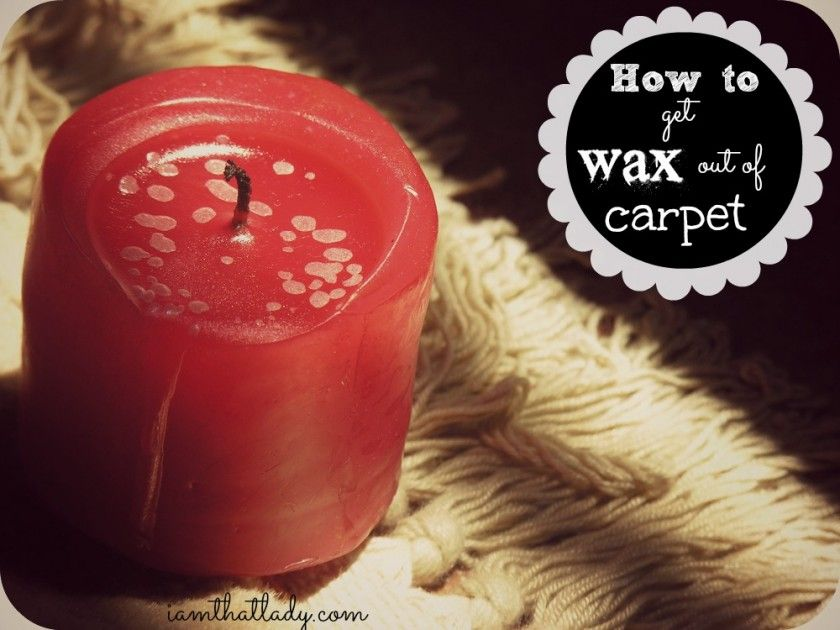 Do you have wax stuck to your carpet take our some paper