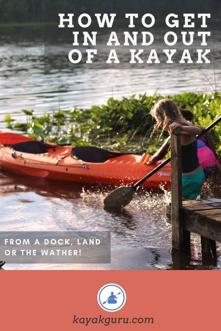 How to get in and out of a kayak safely and some kayaking