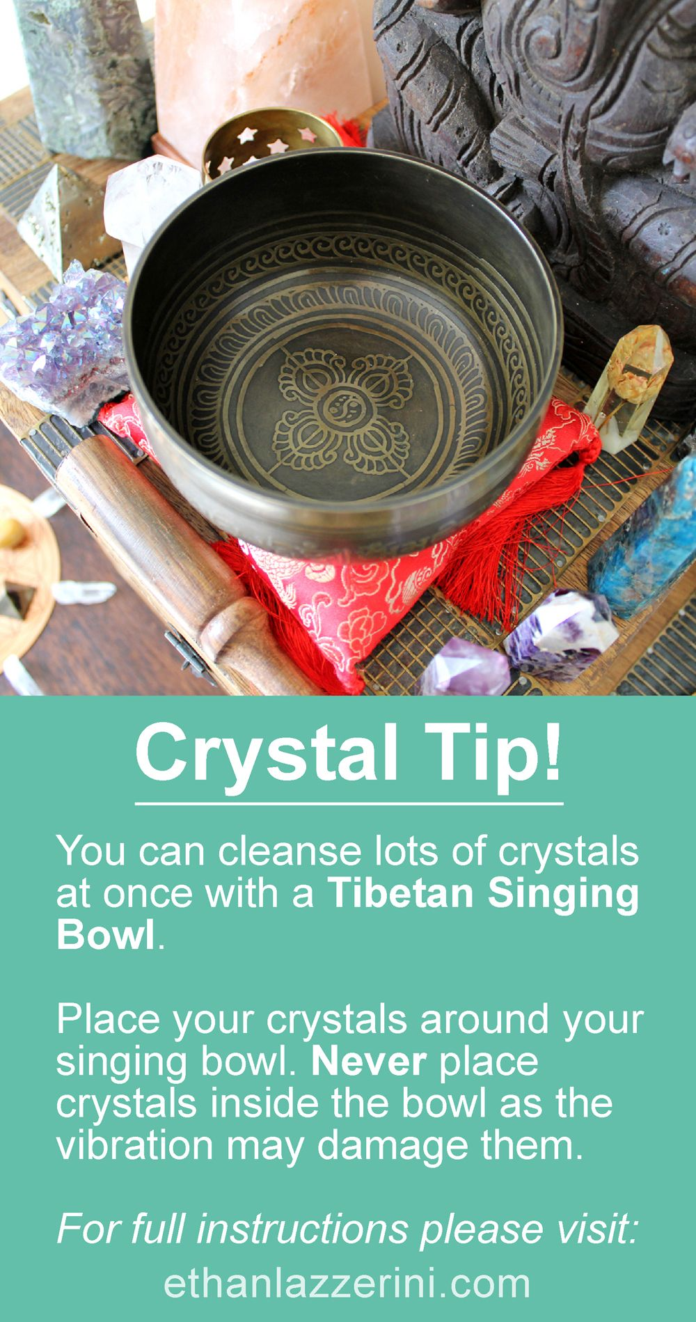 How to cleanse crystals with a singing bowl ethan