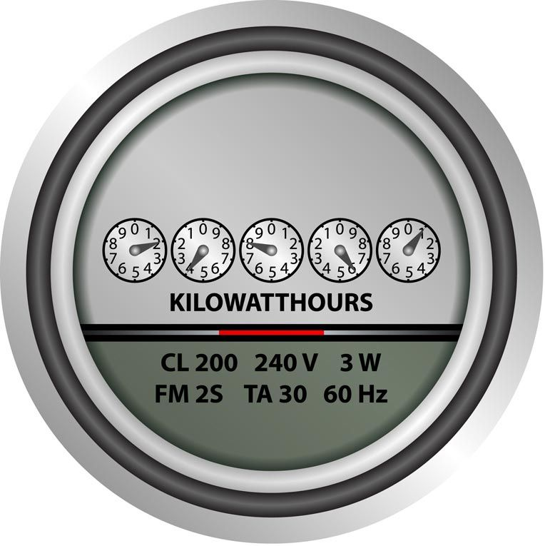 How to calculate home energy usage electricity metering