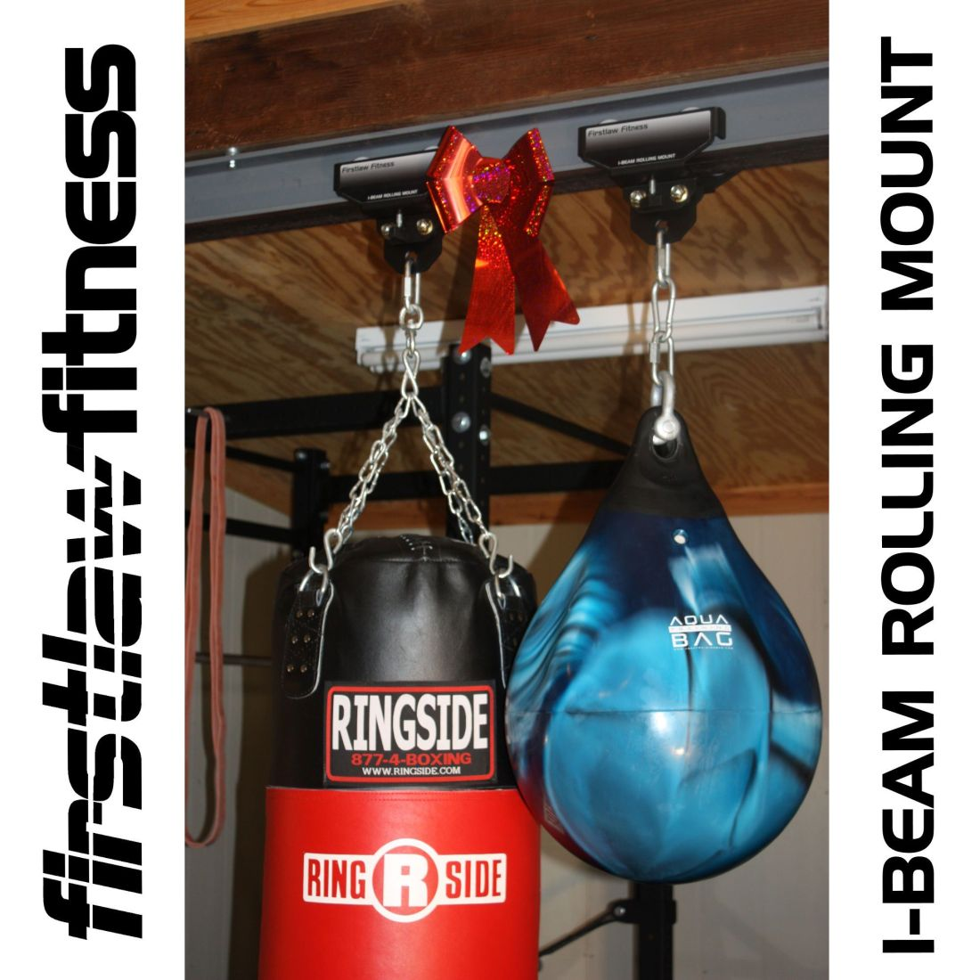 Heres the best way to hang a heavy bag from a steel i