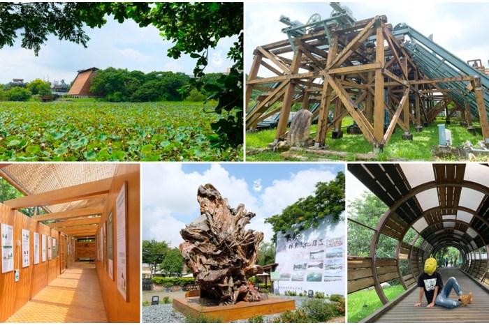 台中東勢景點︳東勢林業文化園區:全台最大荷花池X製材廠遺跡