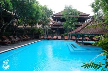峇厘島住宿︳Puri BambuHotel 普瑞班布酒店-傳統建築風格旅館,室外泳池環境愜意迷人!