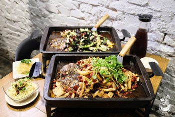城裡城外巫山烤魚︱獨特「怪味烤魚」必吃,台中烤魚第一名!