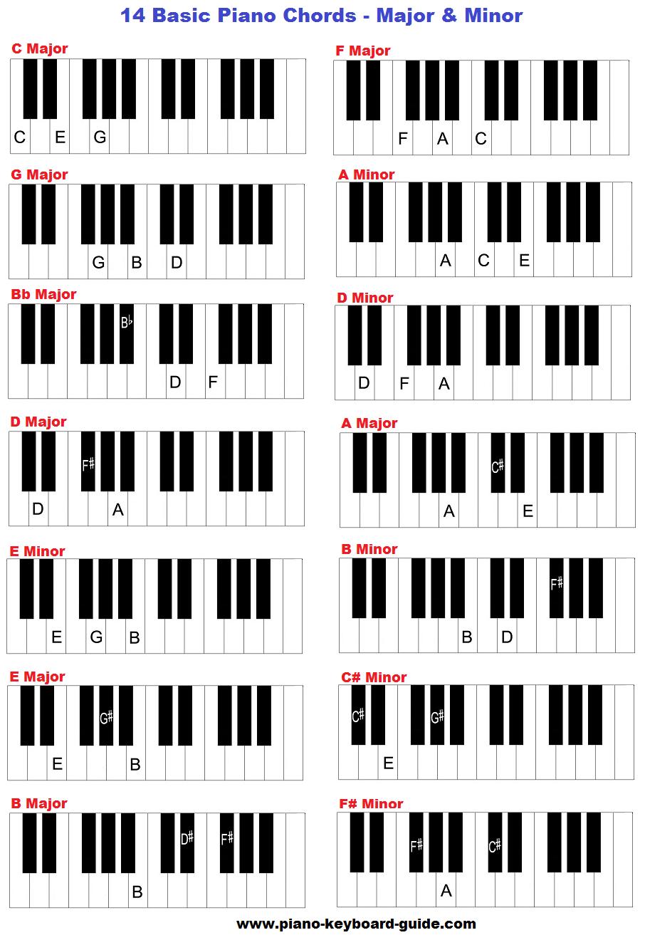 36 Key Keyboard : keyboard, Learn, Basic, Piano, Chords