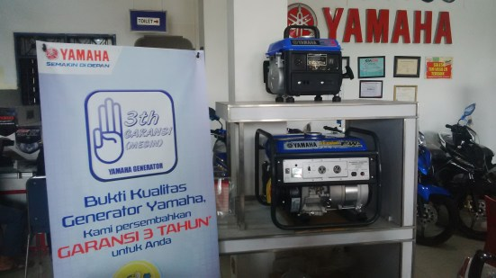 Generator Yamaha - Garansi 3 tahun, Output Listrik sesuai Spek, Sparepart Terjamin