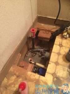 大阪府大阪市中央区  洗面蛇口水漏れ修理