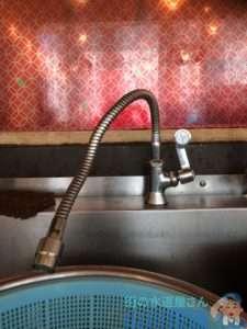 大阪府大阪市北区大深町  厨房水道水漏れ修理