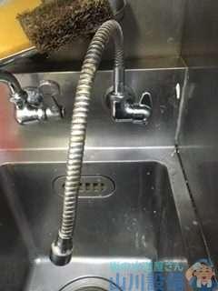 大阪府大阪市阿倍野区阿倍野筋  厨房水栓破損修理  蛇口水漏れ修理