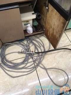 大阪府大阪市住之江区南港南  排水管水漏れ修理  排水つまり修理  高圧洗浄機