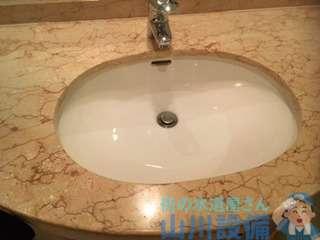 大阪府大阪市中央区難波  洗面手洗い排水つまり修理