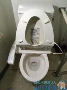 大阪府藤井寺市岡  トイレ水漏れ修理  便器に水がチョロチョロ流れてる