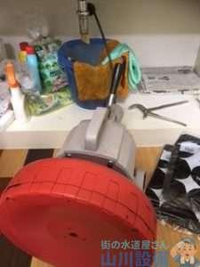 大阪府大阪市平野区喜連  洗面排水つまり修理  ドレンクリーナー