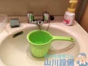 大阪府交野市星田  洗面水栓水漏れ修理