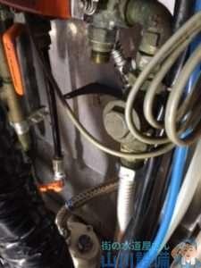 大阪府堺市南区大庭寺  水道水漏れ修理  浄水器付近水漏れ