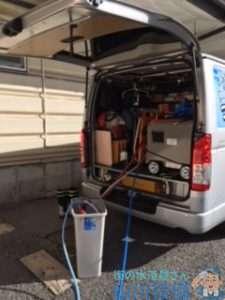 大阪府大阪市城東区成育  排水パイプ水漏れ修理  排水管つまり修理  高圧洗浄機