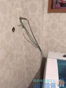 大阪府東大阪市楠根  洗濯機蛇口水漏れ修理  蛇口交換