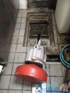 大阪府吹田市垂水町  厨房グリストラップ排水つまり修理  ドレンクリーナー