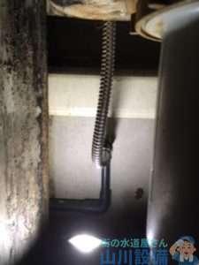 大阪府大阪市北区芝田  水道水漏れ  蛇口水漏れ修理  蛇口交換