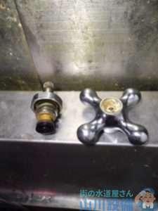 京都府相楽郡精華町  厨房水栓故障修理  ハンドル空回り  水栓交換